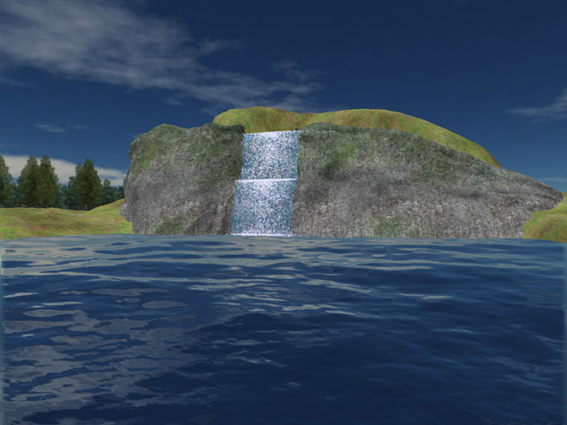 Mountain Lake Waterfall Screensaver