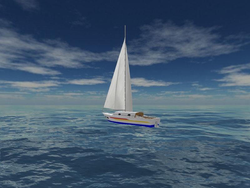 Screenshot vom Programm: Sea Yacht Cruise 3D Screensaver