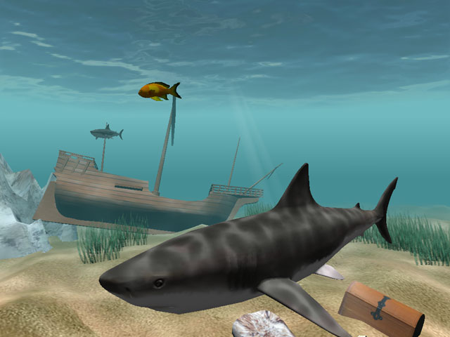 Click to view Shark Water World 3D Screensaver 1.5.3.3 screenshot